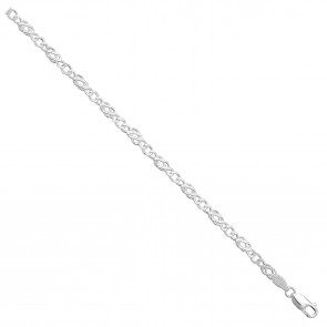 Sterling Silver Celtic Chain Necklace - 4mm Thick - Various Lengths - 16, 18, 20, 22 and 24 Inch Long