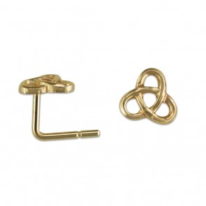 9ct Gold Celtic Loops Nose Stud